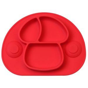 Silicona rojo plato