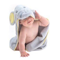 tolla de bebé con forma de elefante